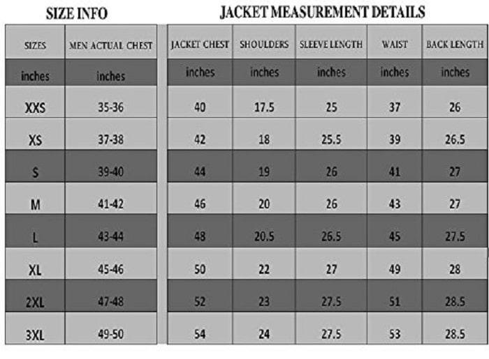 jackets hub american jacket size chart