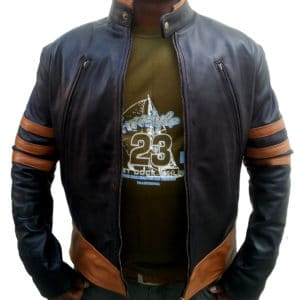 wolverine black leather jacket 1