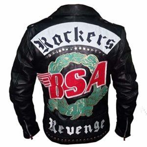 BSA Faith George Michael Rockers Revenge Real Leather Biker Jacket
