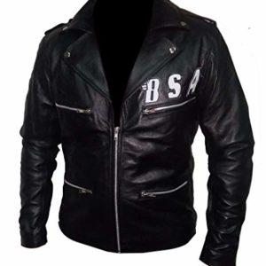 BSA Faith George Michael Rockers Revenge Real Leather Biker Jacket front