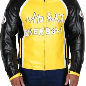 Biker-Boyz-Derek-Luke-Yellow-Motorcycle-Jacket-front