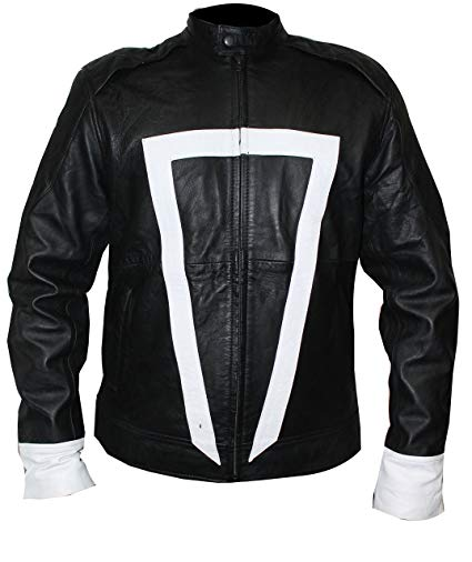 Ghost Rider Jacket Agents of Shield Robbie Reyes & Gabriel Luna Biker Real Leather Jacket