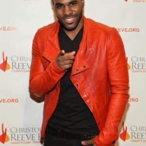 Jason-Derulo-wearing-Julius-Red-Leather-Biker-Jacket-Upscalehype-Christopher-Dana-Reeve-Foundation