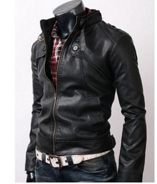 Slimfit-Rider-Button-Pocket-bLACK-Jacket-2