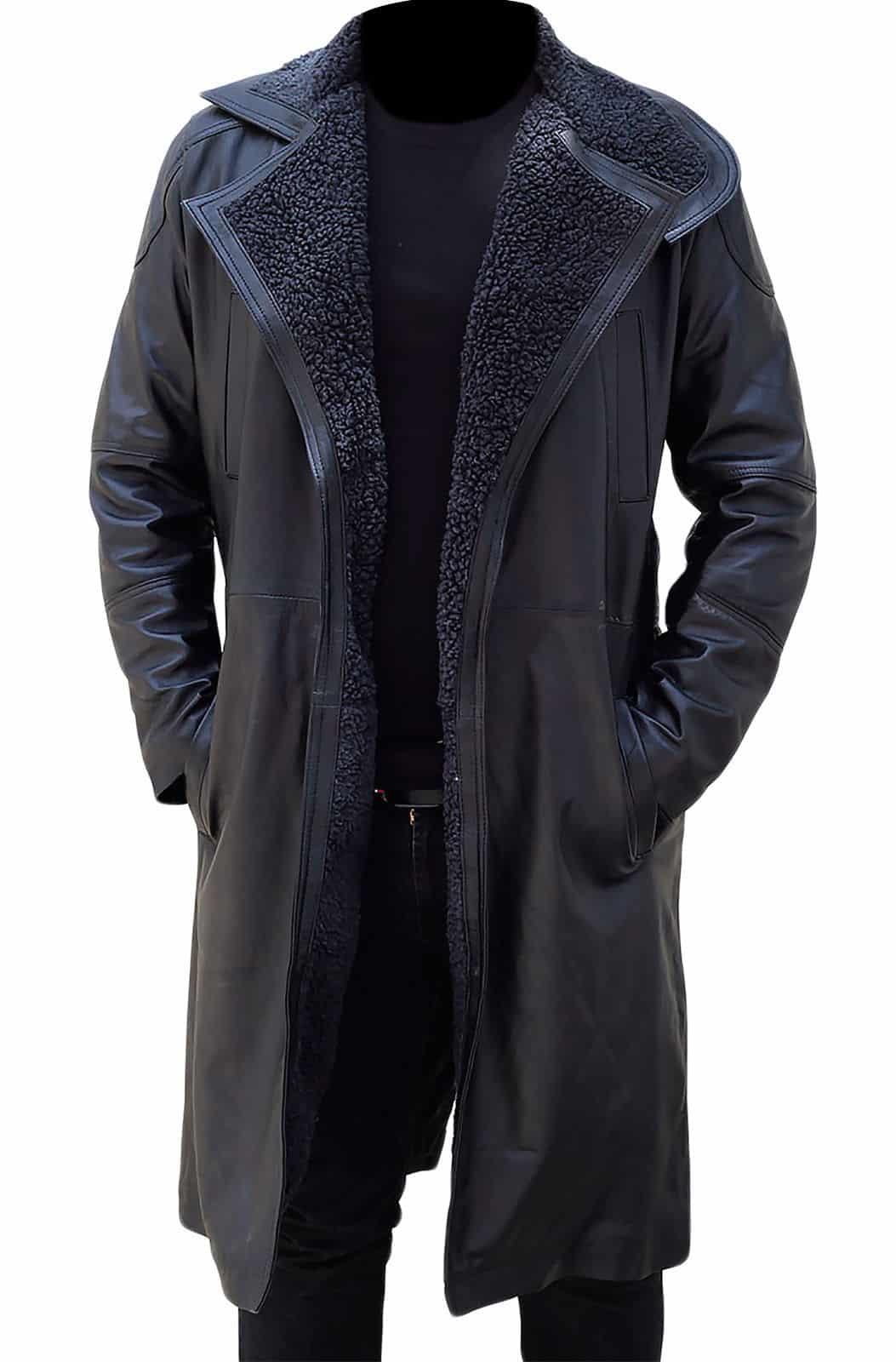 aa0260f06 Blade Runner 2049 Ryan Gosling Real Leather Shearling Coat