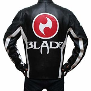 blade trinity black leather jacket