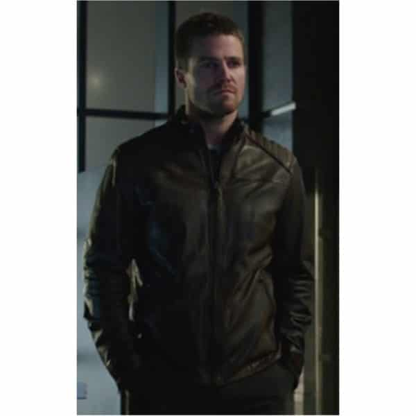 stephen-amell-brown-leather-jacket