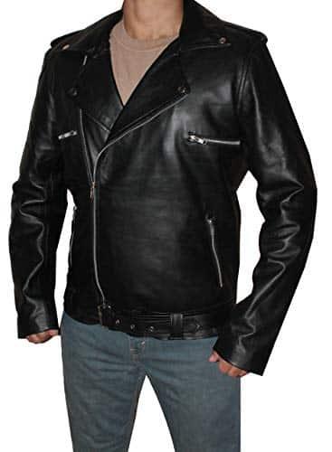 walking dead negan biker jacket