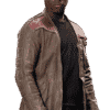 Star Wars The Force Awakens Finn Poe Dameron Leather Jacket