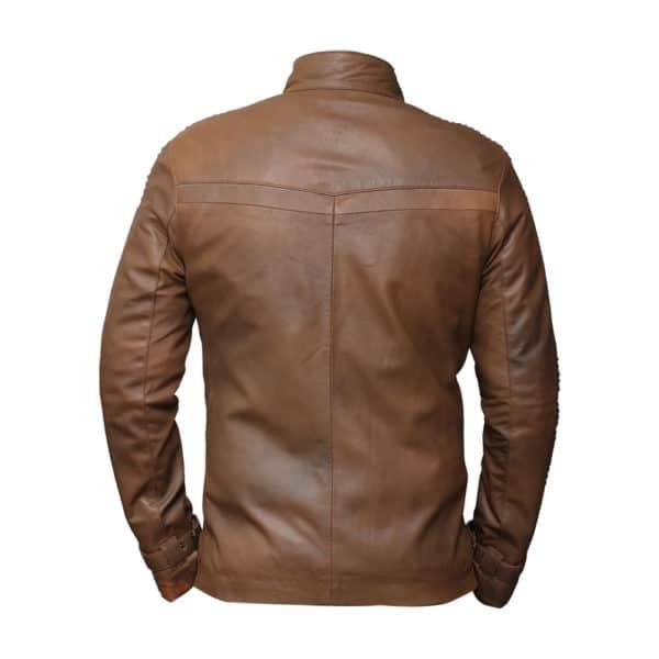 Star Wars The Force Awakens Finn Poe Dameron Leather Jacket-back