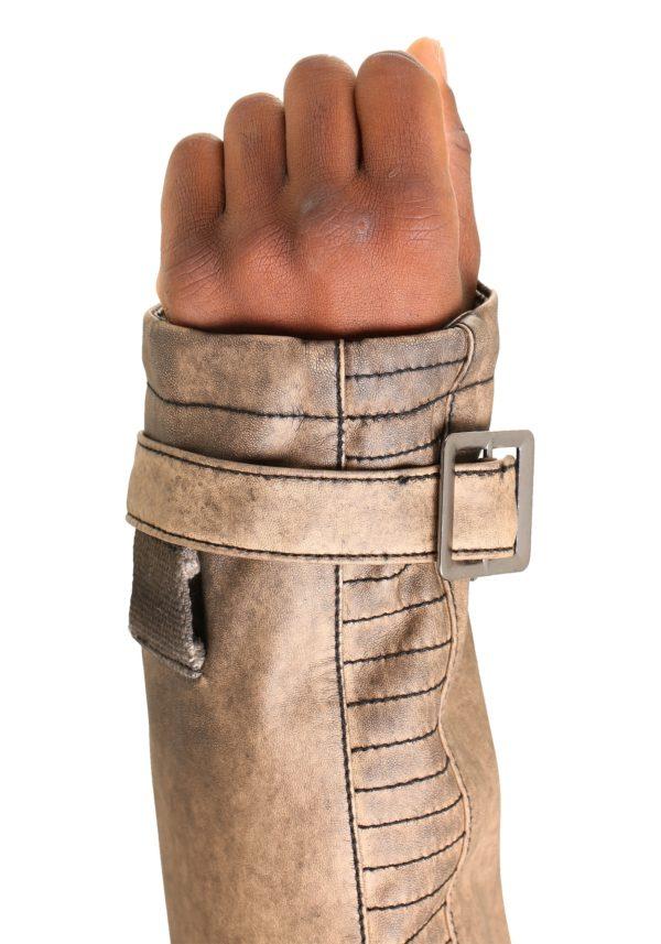 Star Wars The Force Awakens Finn Poe Dameron Leather Jacket-sleeves