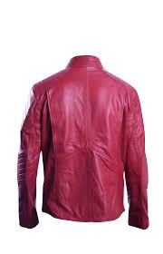 Superman Smallville Red Waxed Leather Jacket-back