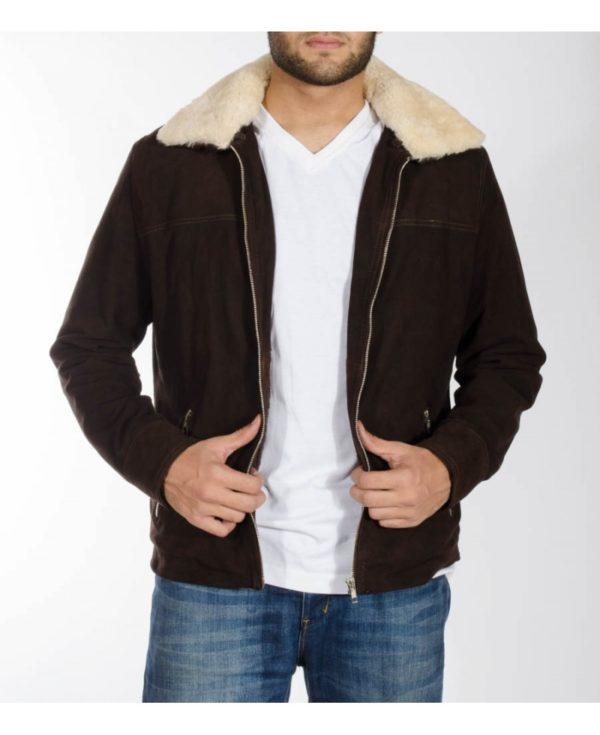 rick grimes walking dead season 5 suede leather jacket