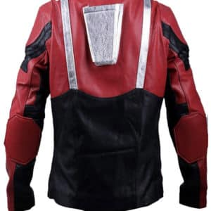 Ant-Man 2 Paul Rudd Red and Black Real Leather Jacket Back