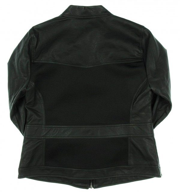 Avengers Black Widow Jacket - Faux and Real Black Leather Jacket For Women Back